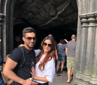 Actor Mayur Verma spotted with his ex Marina Kuwar on a cozy holiday in US.
