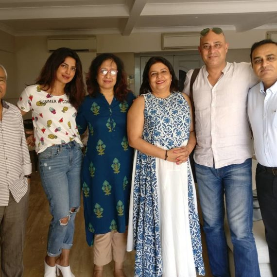 Left to Right Director Jahnu Barua; Producer Priyanka Chopra; Naumi Barua; Producer Madhu Chopra; Producer Shahnaab Alam; and Sandiip B Bhargava, CEO