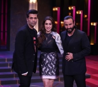 Saif and Sara Ali Khan's fun banter with Karan Johar