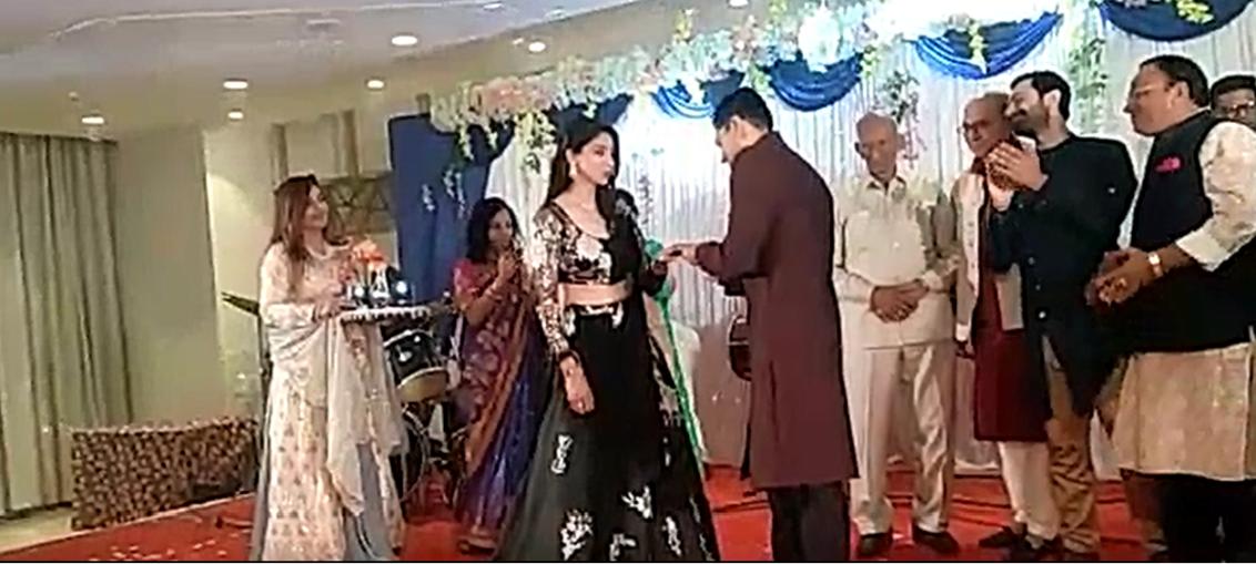 Tanvi Vyas - Harsh Nagar engagement