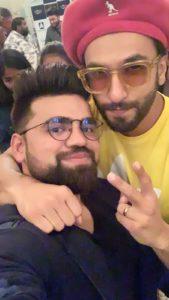 Shivam Dua with Ranveer Singh