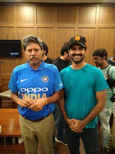 Badree with Kapil Dev