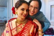 Kangana Ranaut with her mother