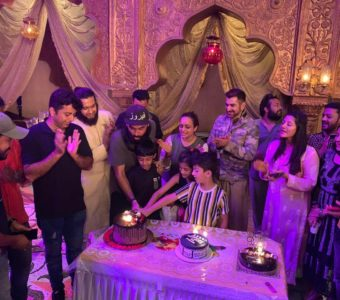 Choreographer Feroz Khan celebrates his birthday on the sets of Bengali film Panther