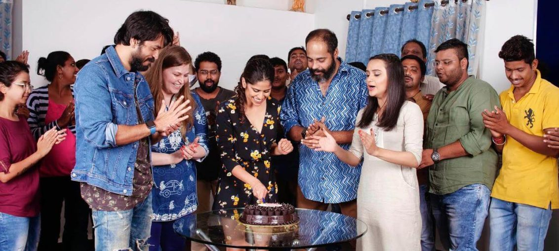 Marathi film 'Medium Spicy' Sai's Birthday