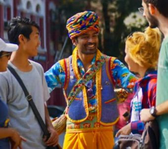 Dhanush as the con artist in Maila Maila from The Extraordinary Journey of the Fakir will steal your heart away