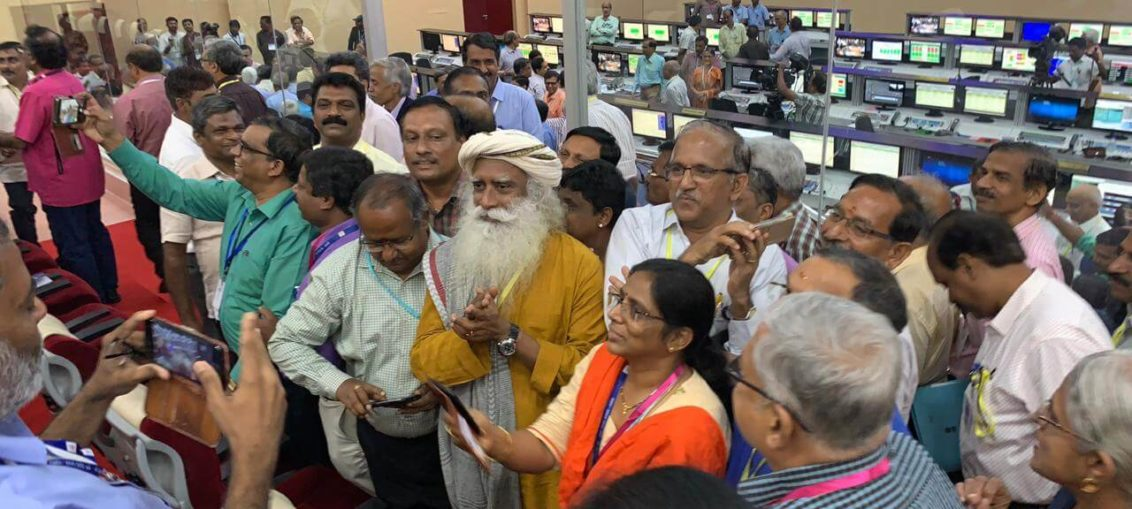 Sadhguru at Chandrayaan 2 launch