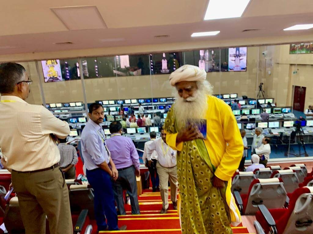 Sadhguru at Chandrayaan 2 launch at ISRO