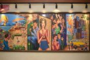 Sangeeta Babani's mixed media art at Otter's Club Bandra