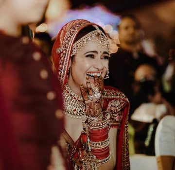 Yuvika Chaudhary wedding dress