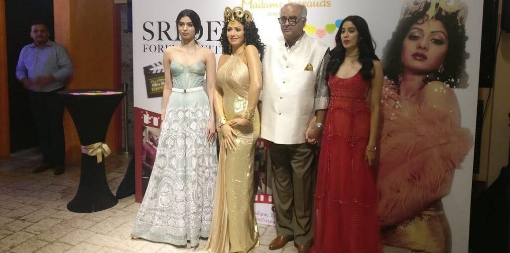 Sridevi's statue at Madame Tussauds Singapore