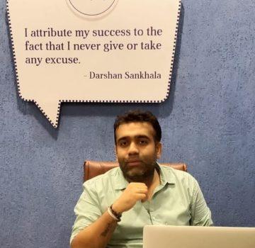Darshan Sankhala in his office