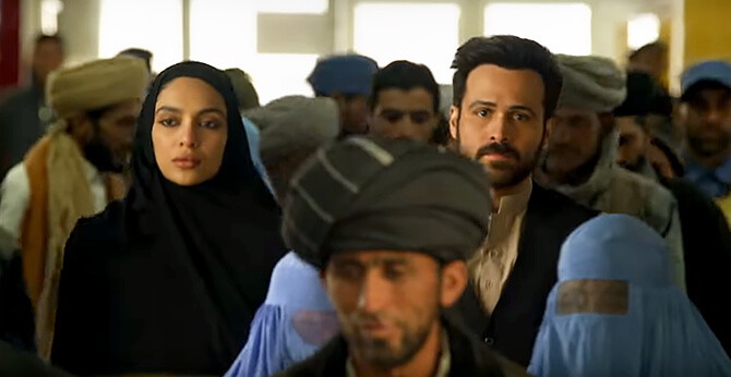 Emraan Hashmi, Shobita Dhulipala in Bard of Blood