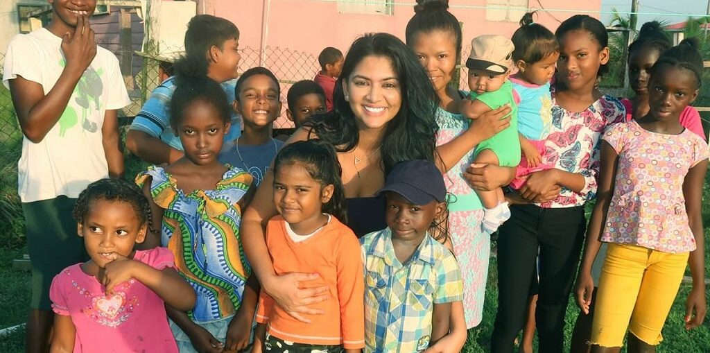 Mrs. India Guyana Kristal Inshan feeds the underprivileged