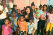 Mrs. India Guyana Kristal Inshan feeds the underprivileged