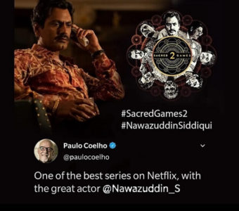 Renowned author and novelist Paulo Coelho praises Nawazuddin Siddiqui's act in Sacred Games franchise
