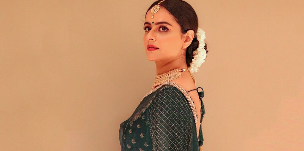 Prachi Tehlan on the set of Mamangam