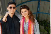 Urvashi Rautela and her brother on Bhaidooj