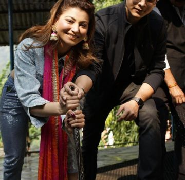 Urvashi Rautela and her brother for bhaidooj