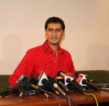Bollywood PR guru Dale Bhagwagar addressing a press conference in Mumbai… (1)