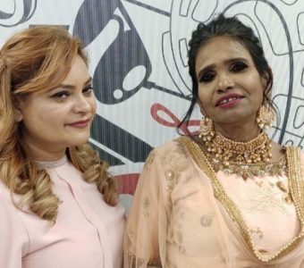Social media sensational singer Ranu Mandal got a newmakeover by Sandhya's makeover in Kanpur