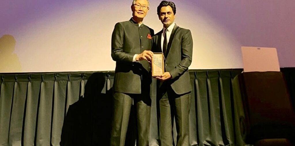 Nawazuddin Siddiqui receives the Lesley Ho Asian Film Talent Award