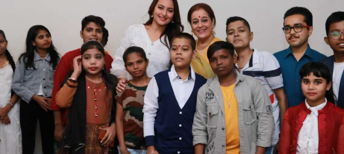 Sonakshi Sinha Celebrating Children's Day