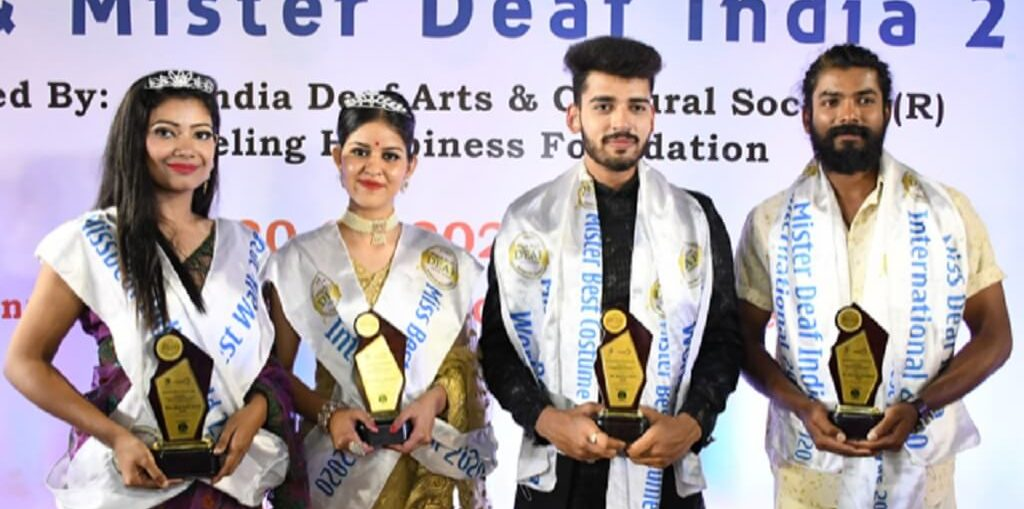 Winners of the 9th Miss and Mister Deaf India2020
