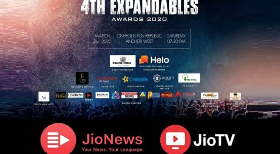 Jio TV and Jio News join hands with 4th Expandables Awards 2020