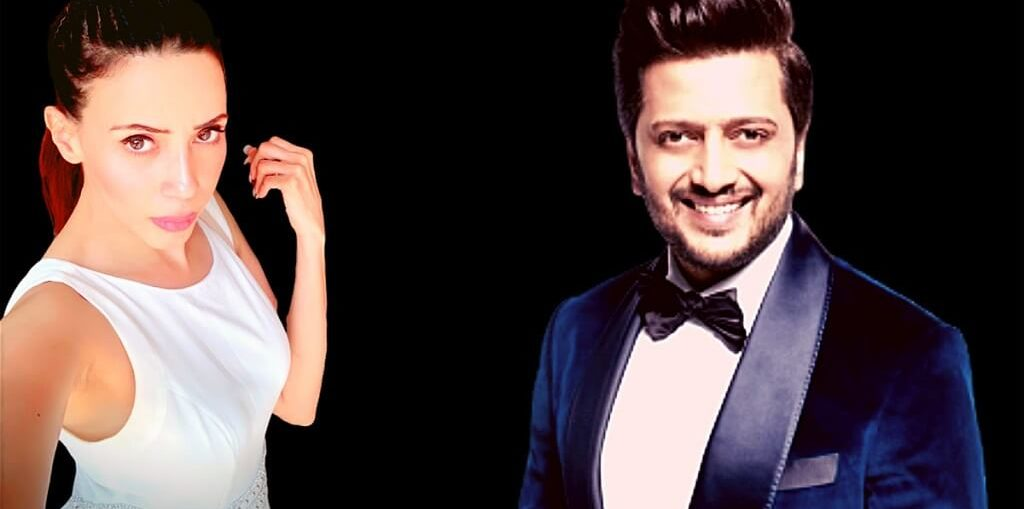 Rozlyn Khan TikTok video with Riteish Deshmukh