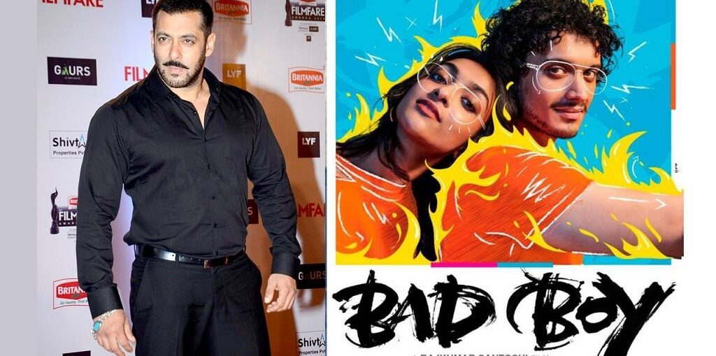"Salman Khan unveils the poster of a Rajkumar Santoshi's film ""Bad Boy"""