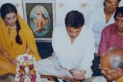 Subhash Ghai and Mahima CHOWDHARY Pooja for PARDES