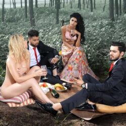Sharat Chandra's photographic recreation of the world classic painting 'The Luncheon on the Grass'.