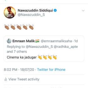 Nawazuddin Siddiqui responds to fans on twitter