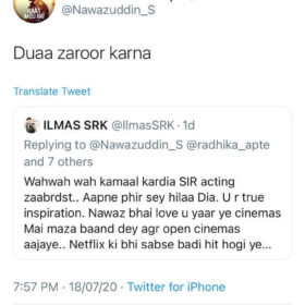 Nawazuddin Siddiqui to his fans for Raat Akeli Hai