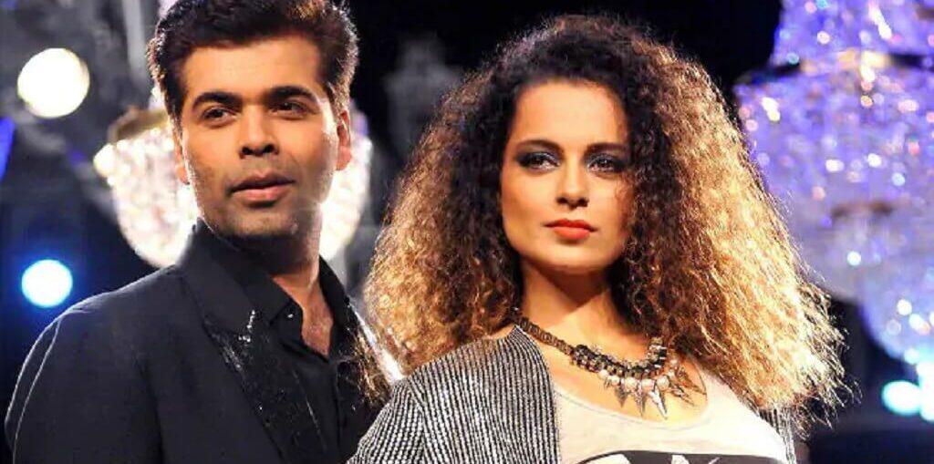 Kangana Ranaut and Karan Johar