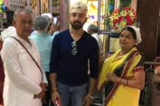 Karan Aanand takes the blessings from Lord Krishna