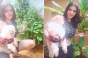 Sherlyn Chopra kitchen garden