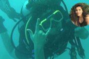 Anisha Victor scuba diving pics