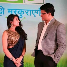 Shalini with Sourav Ganguly