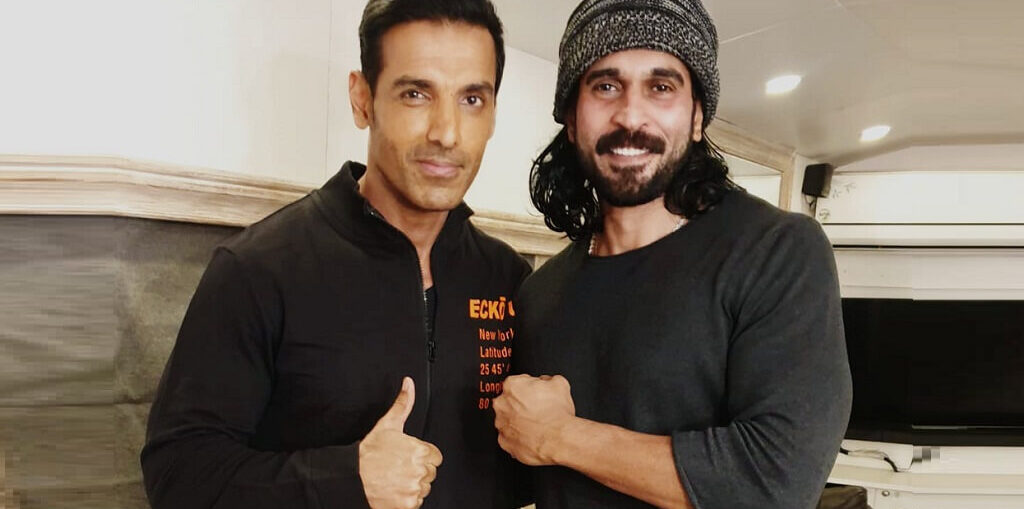 Actor Rajeev Pillai and John Abraham