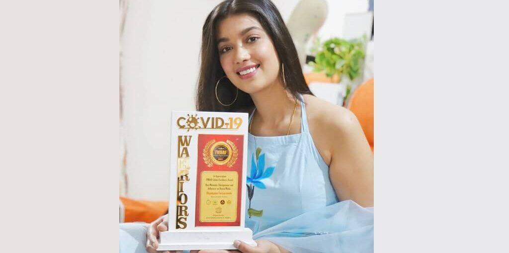Digangana Suryavanshi wins Best Digital Media Influencer