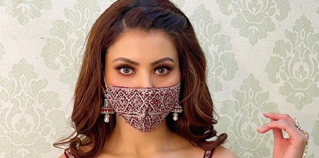 Urvashi Rautela face mask