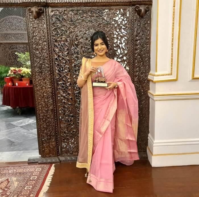Shikha Malhotra at Vagdhara Samman 2021