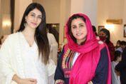 Zakia Wardak with Actress Warina Hussain
