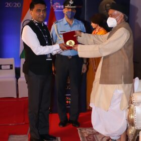 GOA CM PRAMOD SAWANT at Champions of Change 2020 Awards