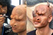 Preetisheel Singh Dsouza mutant face