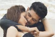 Urvashi Rautela with Guru Randhawa Doob Gaye kiss
