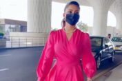 Urvashi Rautela's bright pink airport look is top-notch fashion efforts, giving us summer fashion goals
