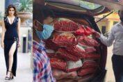 Urvashi Rautela distributes ration